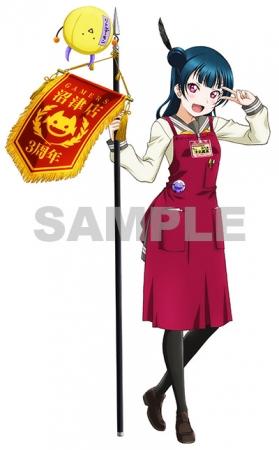 ヌーマーズ3周年おめでとう!描き下ろしイラスト「看板娘:津島善子」3周年記念フラッグver.